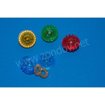 Массажный шарик в комплекте с 2 металлическими кольцевыми пружинами (Су-джок)
